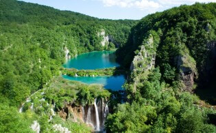 Beautiful Lakes of National Park Plitvice, Kroatia