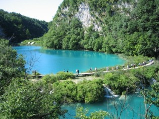 Enjoy the beautiful scenery while walking across National Park Plitvice Kroatia