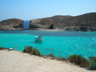 Beautiful picture of the Blue Lagoon, Malta