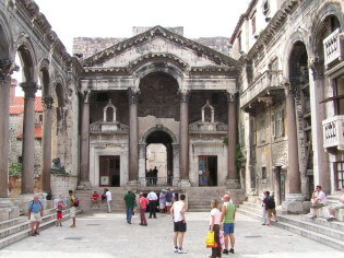 The Palace of Diocletian is full of history and culture, Split, Croatia