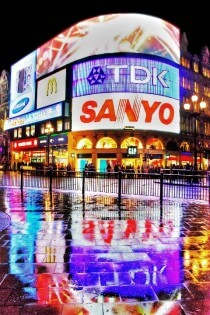 Piccadilly Circus in Londen