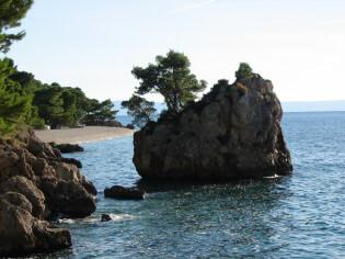 Enjoy the beautiful nature at the amazing bays of Brela, near Split, Croatia