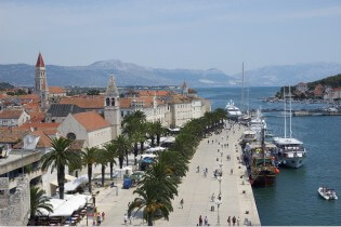Enjoy the beautiful view from the harbor of Trogir, Croatia