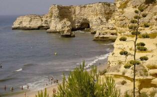 Praia da Marinha in Portugal