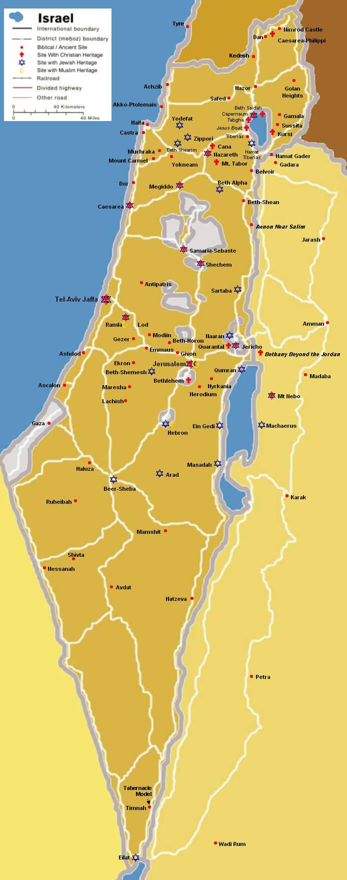 Israel Kaart Archidev