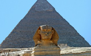 The Pyramids & Sphinx of Gizeh, Cairo, Egypt