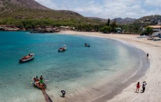 Strand van Tarrafal, Santiago, Kaapverdische Eilanden