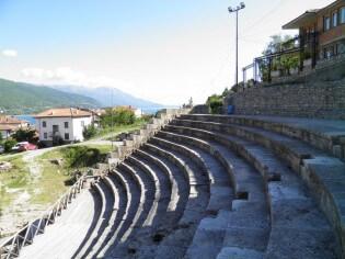 Antiek theater Ohrid, Macedonië