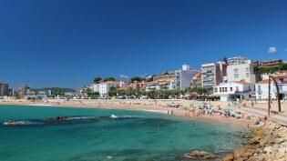 Jongerenvakantie in Spanje - Strand Blanes