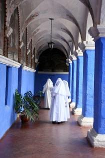 Nonnen in Santa Catalina, Arequipa, Peru