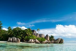 La Digue op de Seychellen
