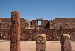 Ruïnes Tiwanaku, Titicacameer, Peru