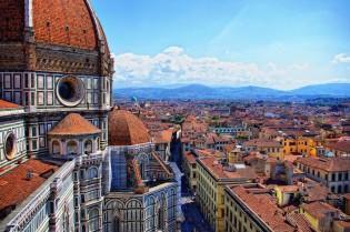 Florence, uitzicht vanaf Basilica di Santa Maria del Fiore