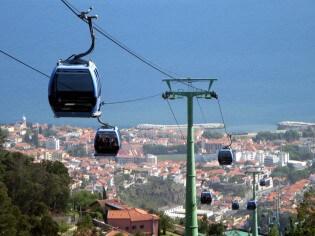 Kabelbaan in Funchal, Madeira