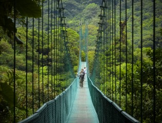 Monteverde nationaal park, Costa Rica, hangbrug, wandelen, natuur, rondreis, vakantie