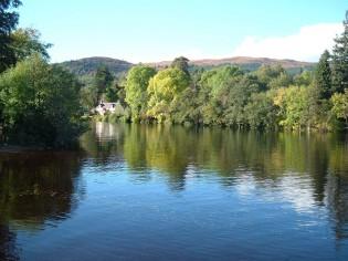 Natuur rondom meer van Loch Ness
