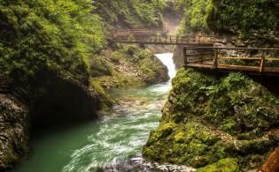 Vintgar Kloof bij Bled in Slovenië