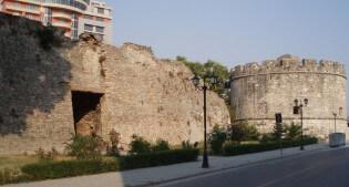 Durres stadsmuur, Albanië