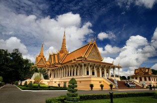 Koninklijk Paleis Phnom Penh, Cambodja