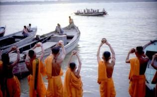 Varanasi aan de Ganges in India