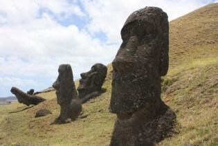 Moai Paaseiland beelden Chili