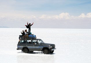 Backpacken in Bolivia, rondreizen, Salar de Uyuni