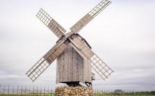 Het eiland Saaremaa in Estland