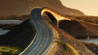 Atlantic Road Noorwegen storseisundbrua storeisundbrug