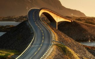 Atlantic Road, de Atlantische weg door Noorwegen