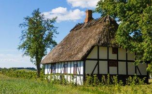 Funen; eiland met de Tuin van Denemarken