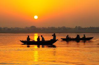 Ganges zonsondergang