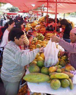 Bananenblad, markt