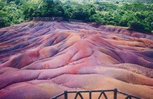 Chamarel zevenkleurige heuvels