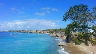 Curacao strand zee