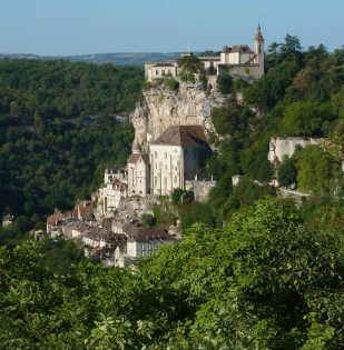 Rocamadour stad op de rots