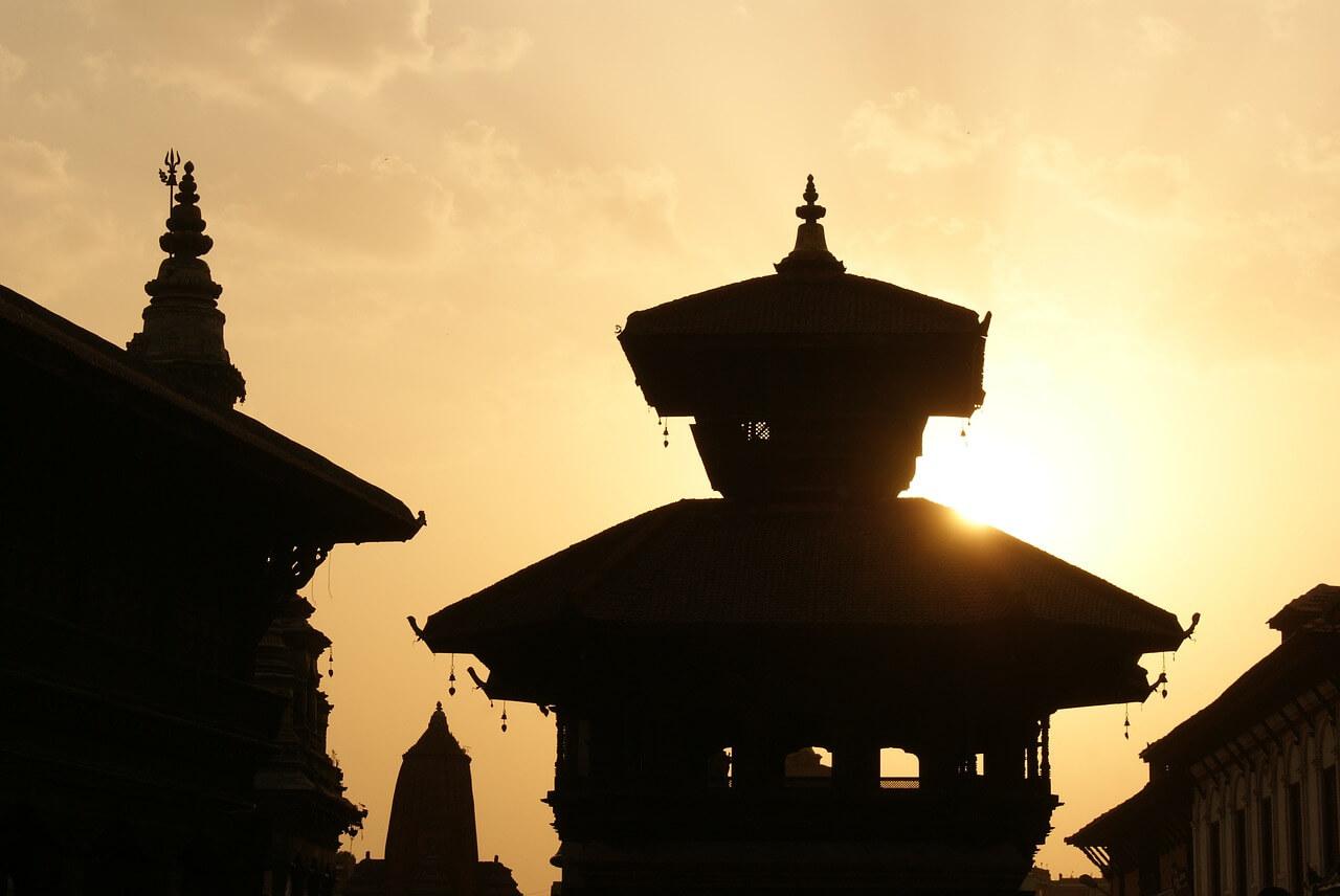 Kathmandu zonsondergang