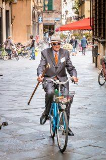 Fietser in Italie