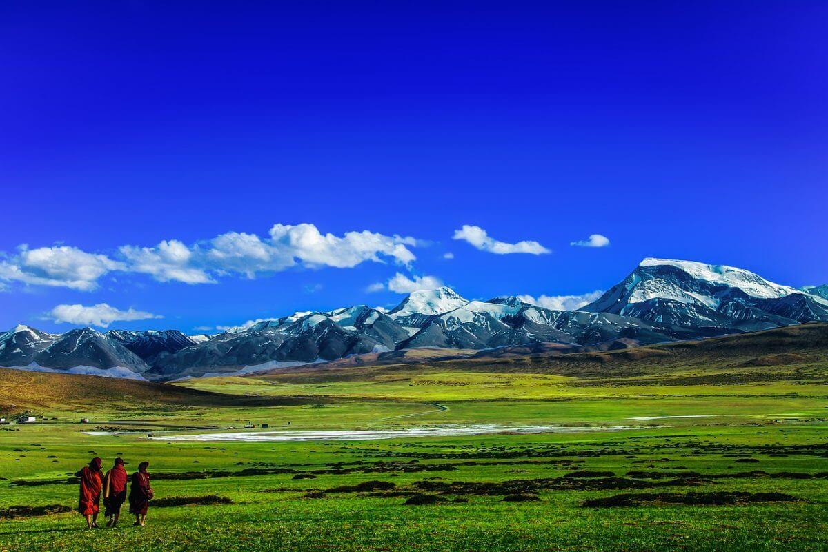 landschap met bergen