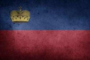 De vlag van Liechtenstein