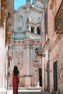 Vrouw in Lecce
